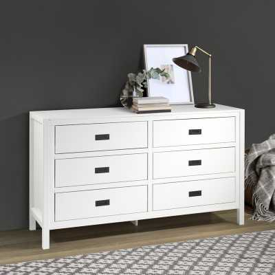 White Clareta 6 Drawer Double Dresser - Wayfair