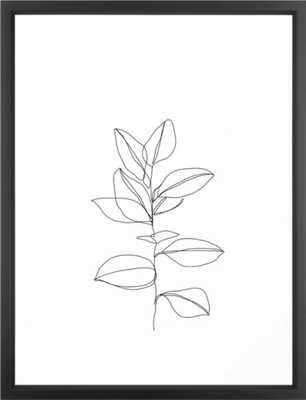 One line plant illustration - Dany Art Print - Society6