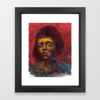 Drained Framed Print - 10x12 - Vector Black - Society6