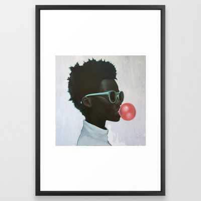 How far is a light year? Framed Art Print - Society6