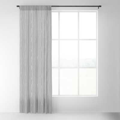 "Platinum Lines Never Fail - Dark Gray Blackout Curtain - 96""x50"" - Single Panel - Society6"