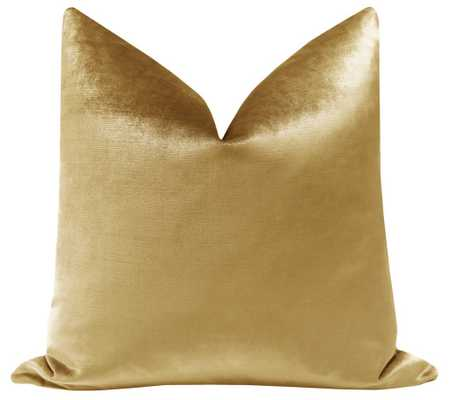 "Faux Silk Velvet // Gold - 18"" X 18"" - Insert Not Included - Little Design Company"