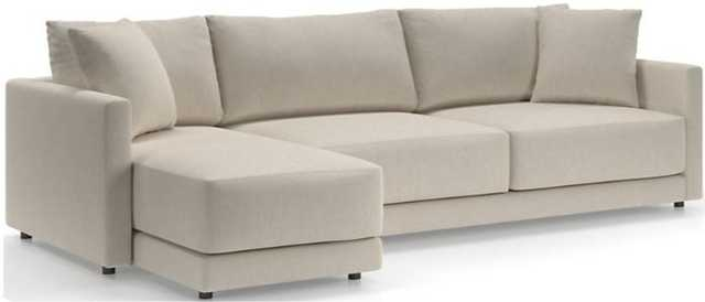 Gather 2-Piece Left Arm Chaise Sectional Icon Pearl - Crate and Barrel