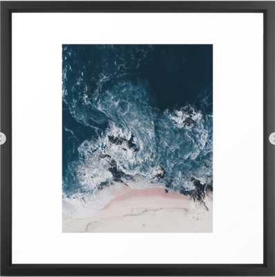 I love the sea - written on the beach Framed Art Print - Society6