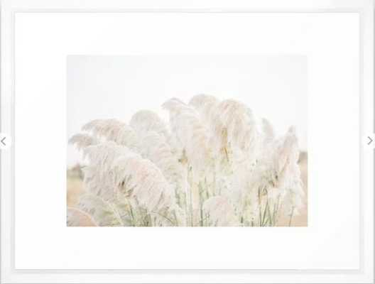 Natural Pampas Grass Framed Art Print - 20x26, Vector White - Society6