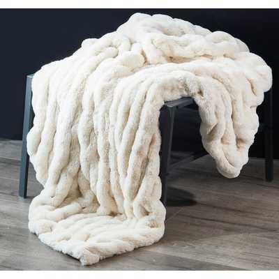 Faycelles Faux Fur Throw - Wayfair