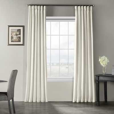 """Sagunto Solid Room Darkening Drapes Off White 50"""" W x 108"""" L - Wayfair"""