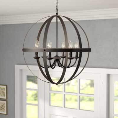 Genna 6 - Light Lantern Globe Chandelier - Wayfair