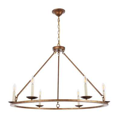 Tarantino 6-Light Candle Style Wagon Wheel Chandelier - Wayfair