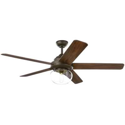 Avonbrook 56 in. LED Bronze Ceiling Fan with Light Kit and Remote Control - Home Depot