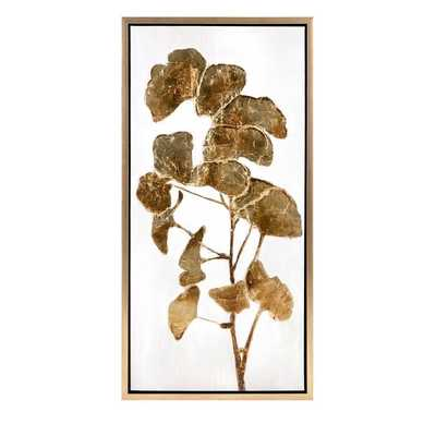 Luxe Ginkgo Framed Oil Painting Print - Birch Lane