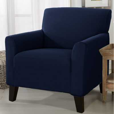 Solid Stretch Box Cushion Armchair Slipcover - Overstock