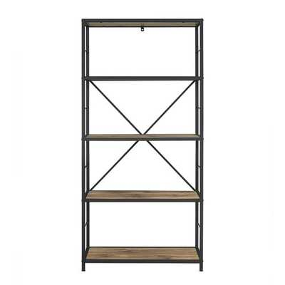 Barnwood Macon Etagere Bookcase - Wayfair
