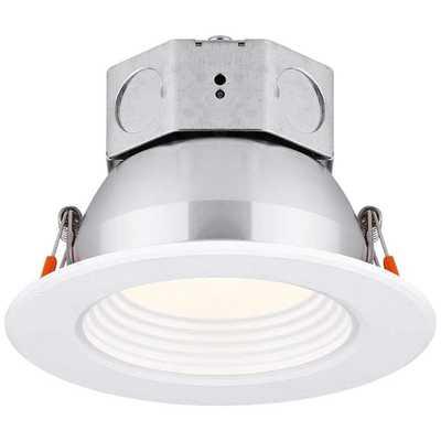 "Veloce 4"" White LED Baffle Downligh - Lamps Plus"