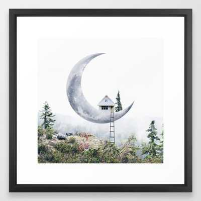 Moon House Framed Art Print - Society6