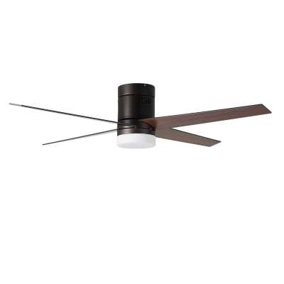"52"" Arauz 4 - Blade LED Flush Mount Ceiling Fan with Remote Control and Light Kit Included  52"" Arauz 4 - Blade LED Flush Mount Ceiling Fan with Remote Control and Light Kit Included  52"" Arauz 4 - Blade LED Flush Mount Ceiling Fan with Remote Control and - Wayfair"