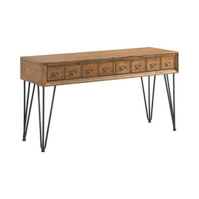 Tanner Light Walnut Transitional Sofa Table - Home Depot