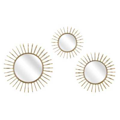 Phillips Wall Mirrors - Set of 3 - Mercer Collection