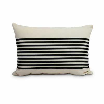 Fegan Striped Print Indoor/Outdoor Lumbar Pillow - Birch Lane