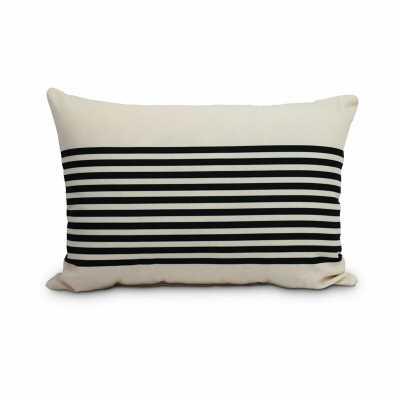 Fegan Striped Print Indoor/Outdoor Lumbar Pillow - Birch Lane