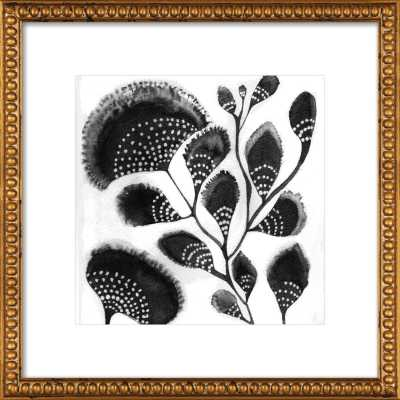 "African Botanicals - 14"" x 14"" - Gold Crackle Bead Wood Frame with Matte - Artfully Walls"