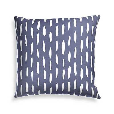 "Global Dash Navy 20"" Outdoor Pillow - Crate and Barrel"