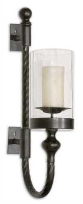 Garvin Twist Candle Holder Wall Sconce - Hudsonhill Foundry