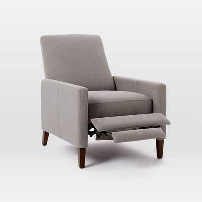 Sedgwick Recliner, Linen Weave, Platinum - West Elm