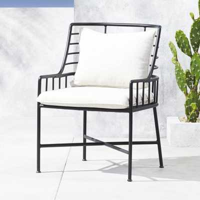 Breton Black Metal Dining Chair - CB2