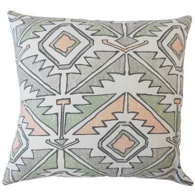 GABE GEOMETRIC PILLOW SUNDOWN - Linen & Seam