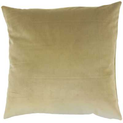 "Classic Velvet Pillow, Olive, 20"" x 20"" - Havenly Essentials"