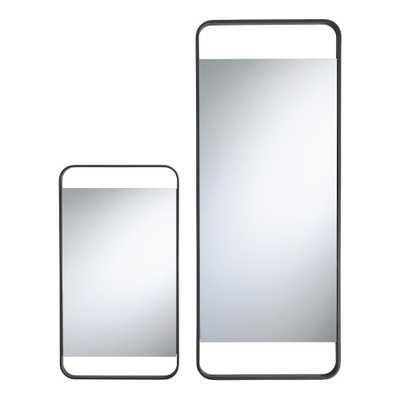 Black Metal Vertical Weston Mirror - Large - World Market/Cost Plus