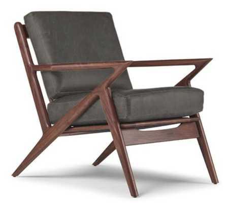 Soto Leather Chair - Cartier Wolf - Joybird