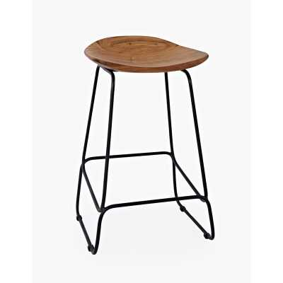 "Zhenya Solid Wood 23"" Short Stool - Wayfair"