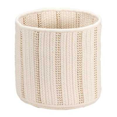 Colonial Mills Essentia 12 in. x 12 in. x 12 in. White Round Polypropylene Braided Basket - Home Depot