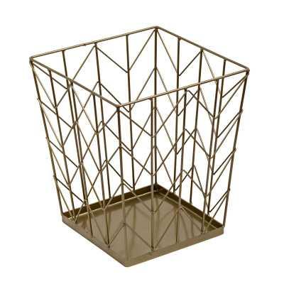 Kaila Coastal Decorative Waste Basket - Wayfair
