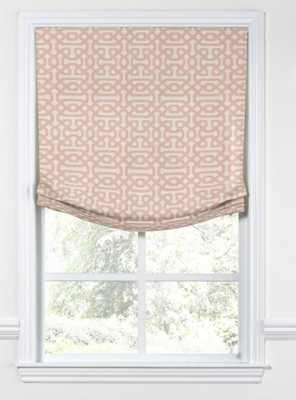 Relaxed Roman Shade Sunbrella® Fretwork - Cameo - Loom Decor
