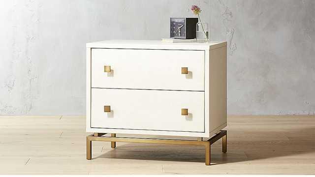 ivory shagreen embossed nightstand - Apt2B