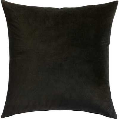 "23"" leisure black pillow with feather-down insert"" - CB2"