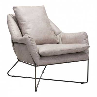 Finn Lounge Chair Distressed Gray - Zuri Studios