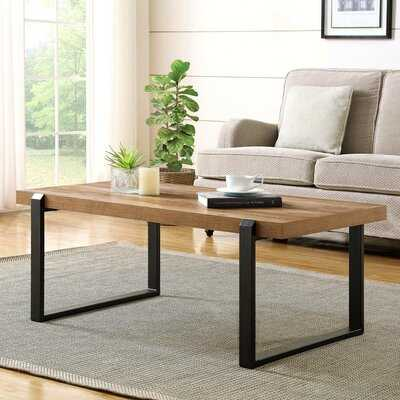 Rustic Coffee Table,Wood And Metal Industrial Cocktail Table For Living Room - Wayfair