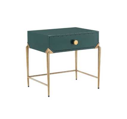 Camryn Green Lacquer Side Table - Maren Home
