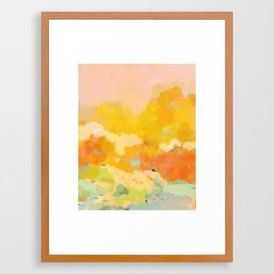 abstract spring sun Framed Art Print - Society6