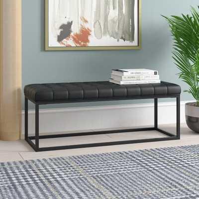 Feld Faux Leather Bench - Wayfair