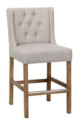 "Sixtine Counter Stool - 24"" French Beige - Wayfair"