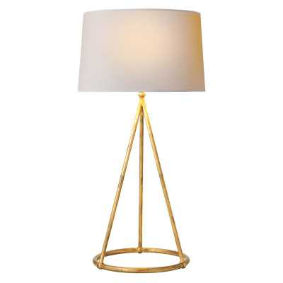 NINA TAPERED TABLE LAMP - GILDED IRON - McGee & Co.