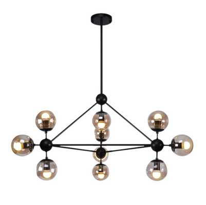 Julius 10-Light Sputnik Modern Linear Chandelier - AllModern