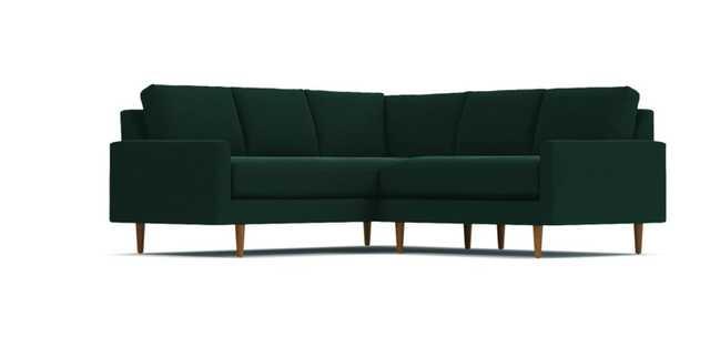 Scott 2pc L-Sectional Sofa - Evergreen Velvet - Apt2B