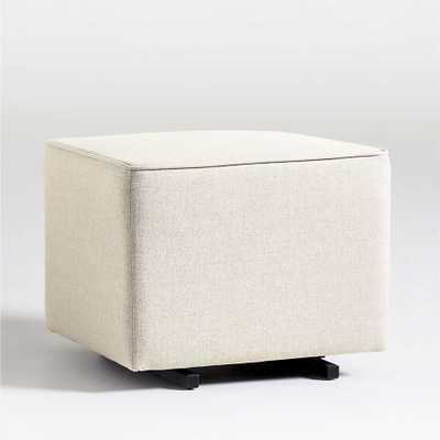 Babyletto Kiwi Cream Gliding Ottoman in Eco-Performance Fabric - Crate and Barrel