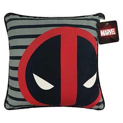 Jay Franco Marvel Deadpool Decorative Pillow, Gray/Red - Amazon
